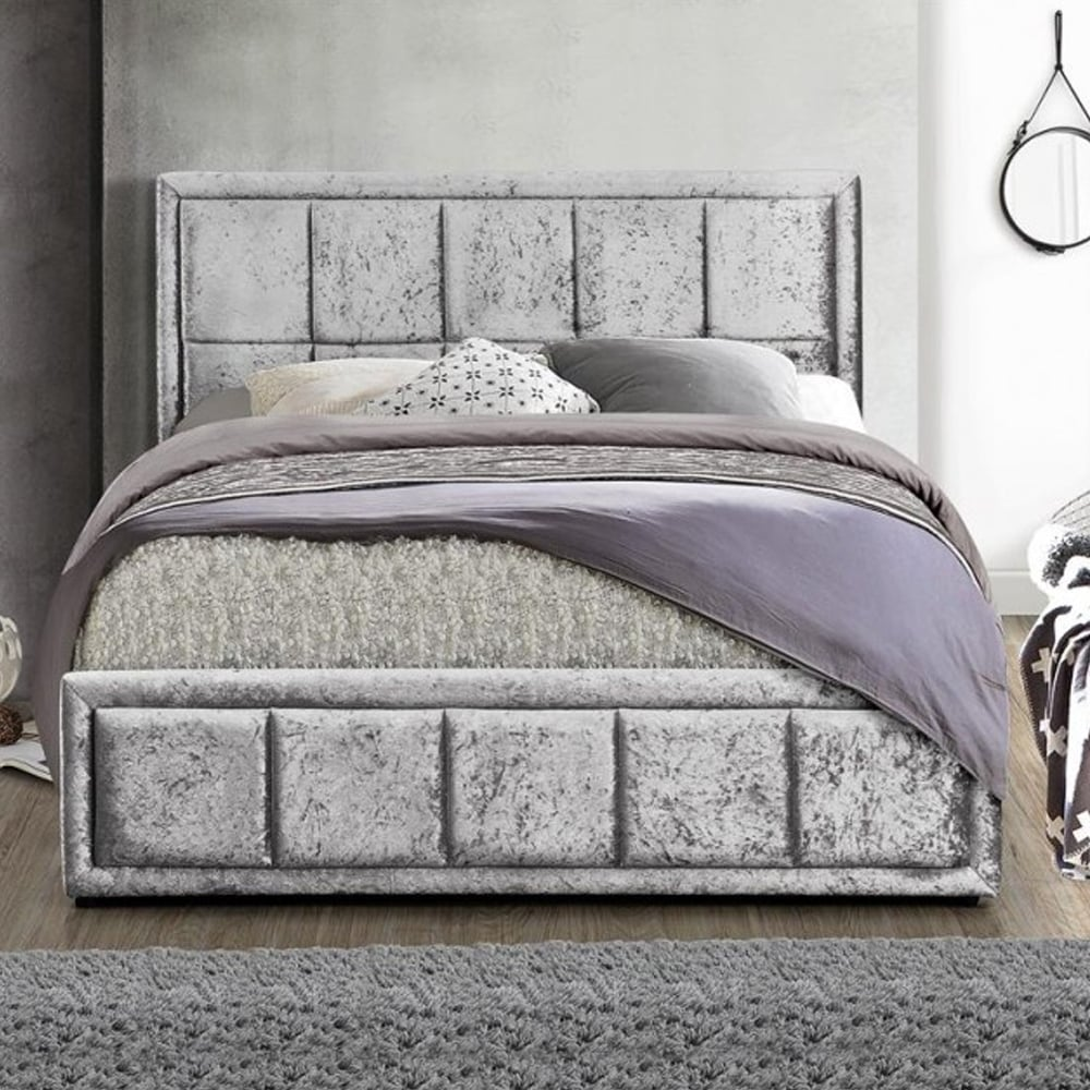 cheap birlea beds hannover 4ft small double steel crushed. Black Bedroom Furniture Sets. Home Design Ideas