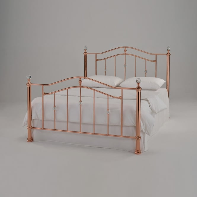 Harmony Eleanor 4ft6 Double Rose Gold Metal Bed