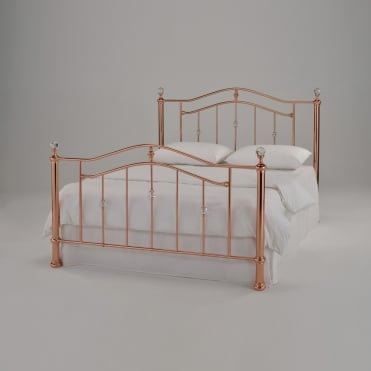 rose gold beds cheap rose gold beds luxury rose gold 11703 | harmony eleanor 4ft6 double rose gold metal bed p4709 19500 thumb