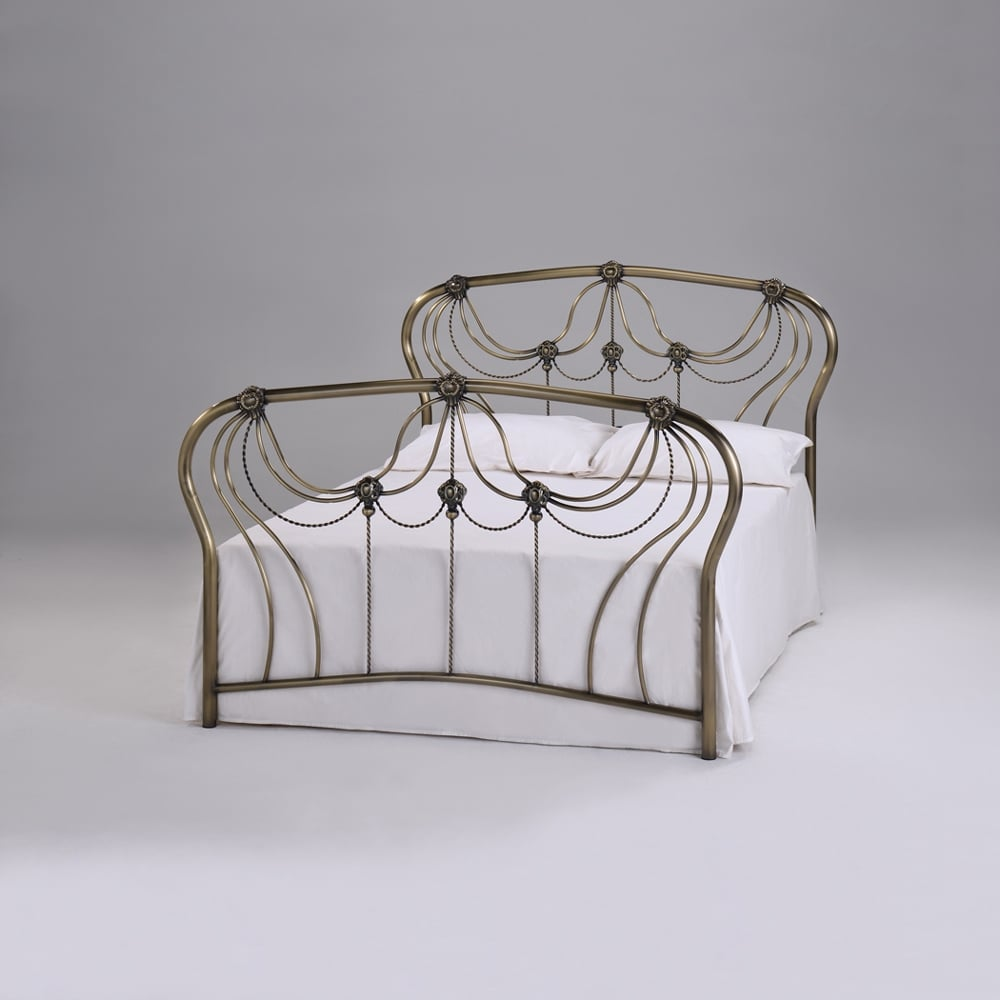 Cheapest Katherine 4ft6 Double Antique Brass Metal Bed Sale