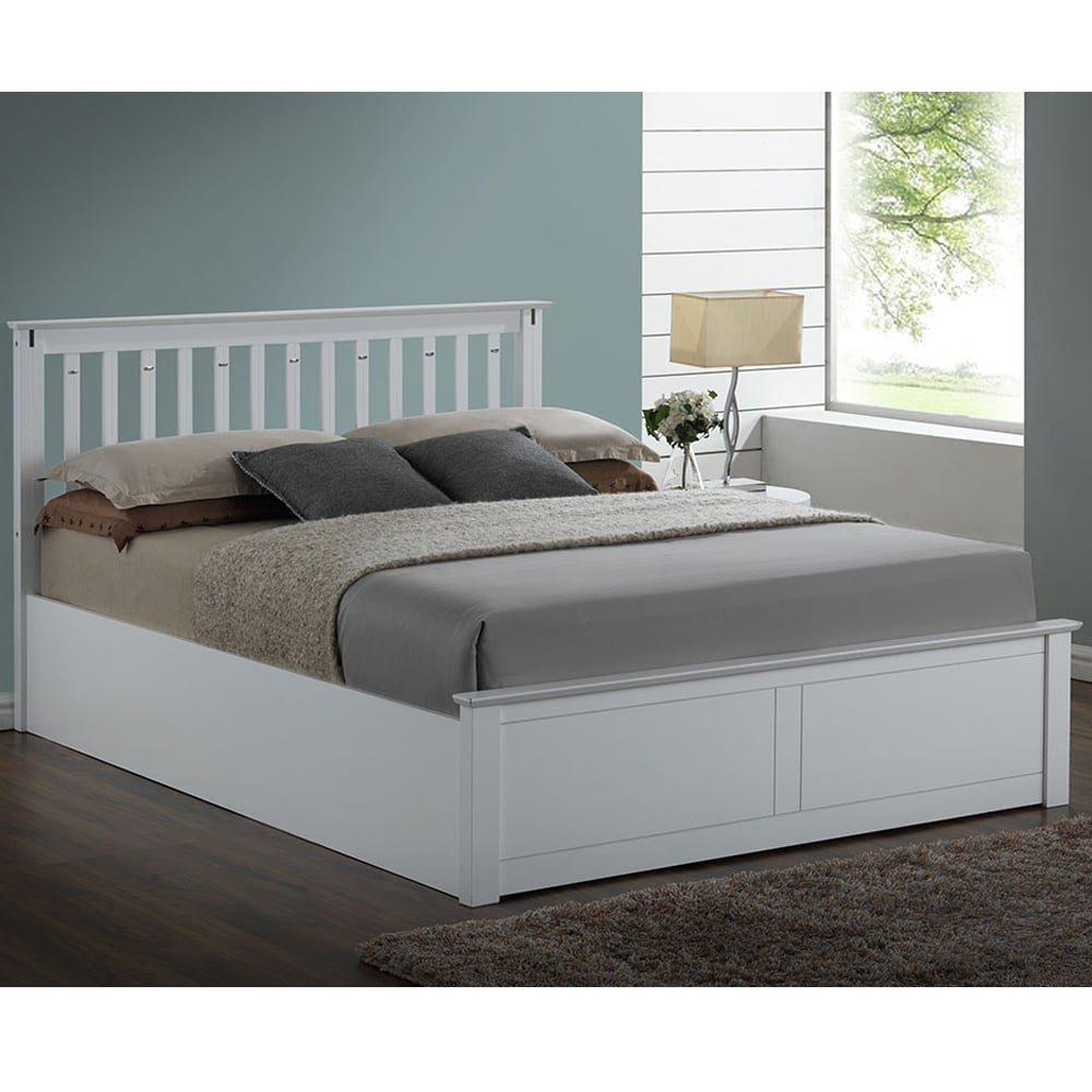 Kensington 4ft6 Double White Wooden Bed