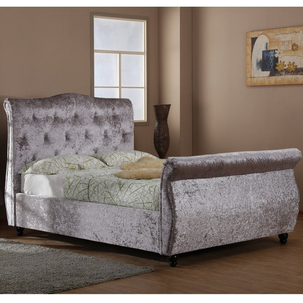 Phenomenal Harmony Mayfair 5Ft King Size Silver Crushed Velvet Ottoman Storage Bed Pabps2019 Chair Design Images Pabps2019Com