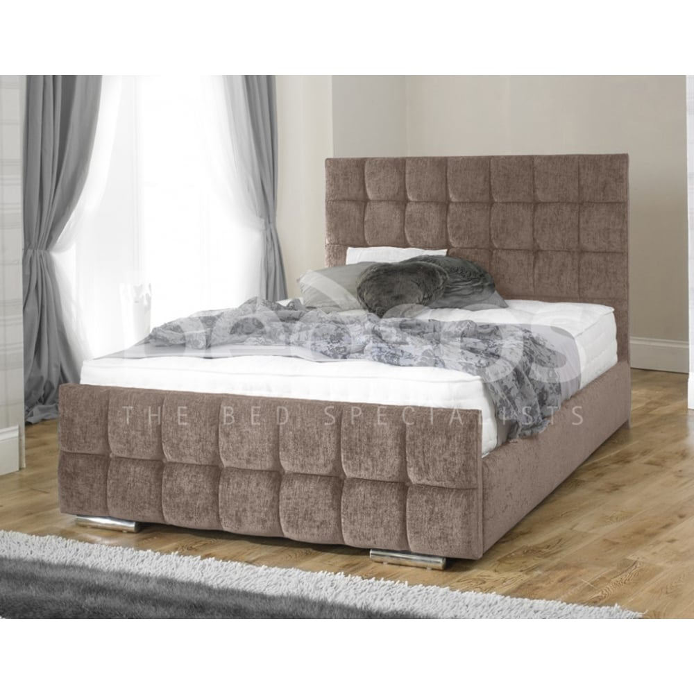 Monza Italia Imola 4ft Small Double Mink Chenille Bed # Meuble Tv Monza