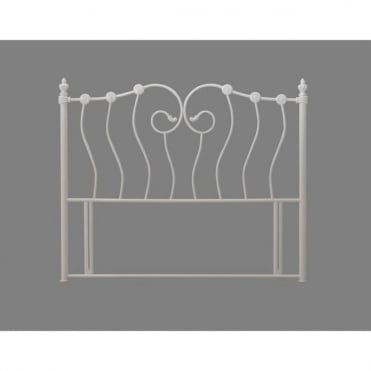 Inova 3ft Single Ivory Metal Headboard