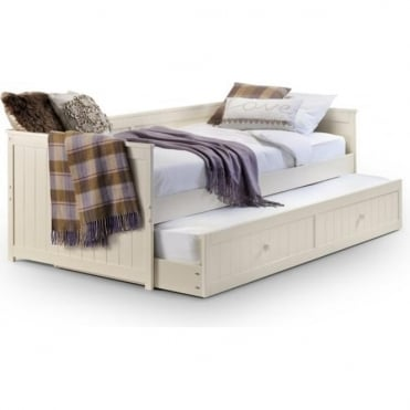 Jessica 3ft Single Stone White Day Bed