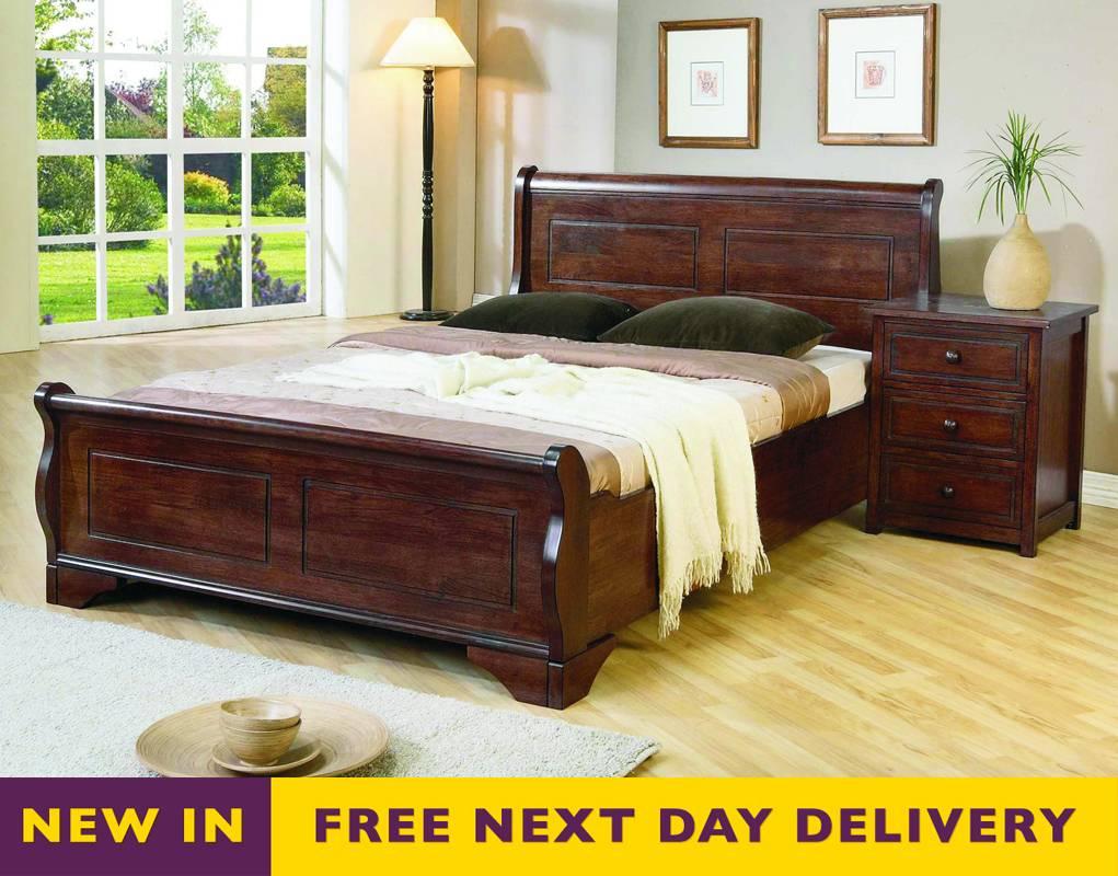 - Cheapest Joseph Beds Louis 3ft Single Dark Brown Wooden Sleigh Bed UK