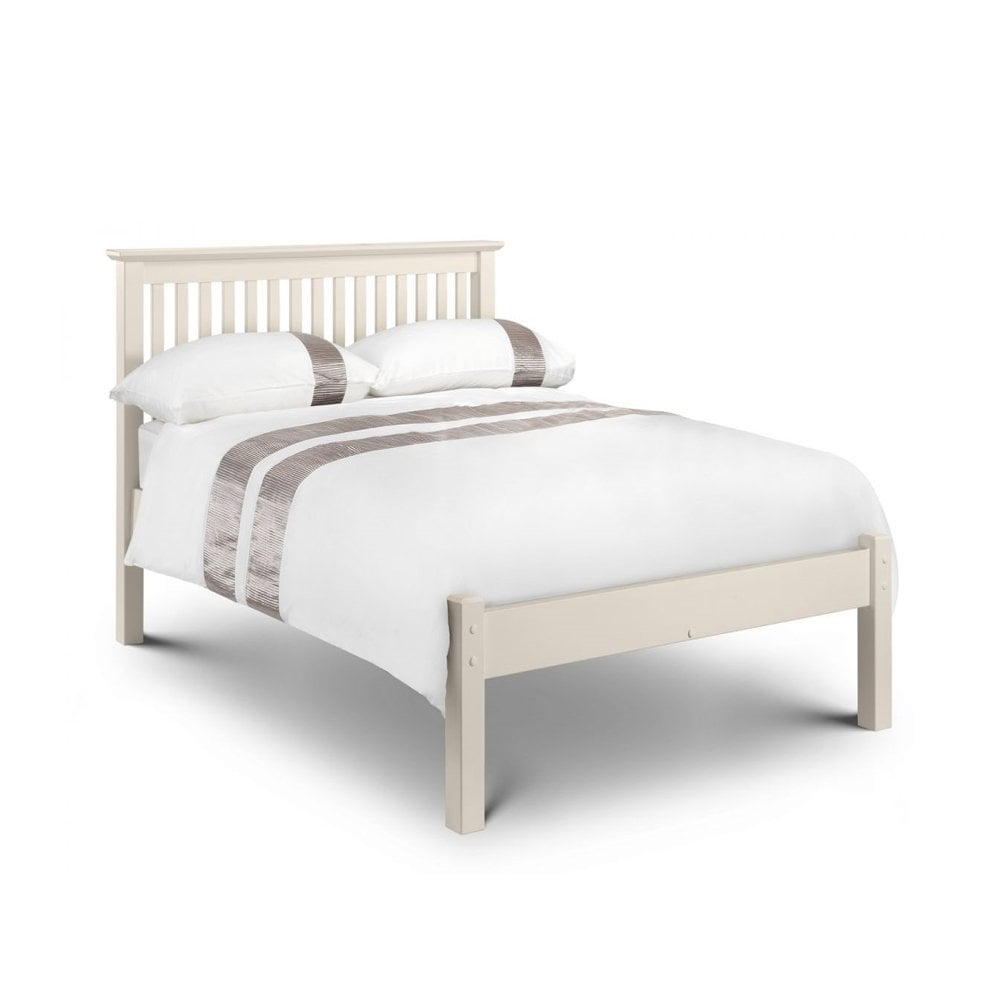 another chance 23982 14845 BAR023 Barcelona 4ft Small Double Stone White Low Foot End Wooden Bed