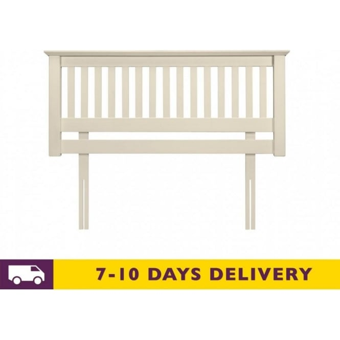 Julian Bowen Barcelona 5ft King Size Solid White Pine Headboard