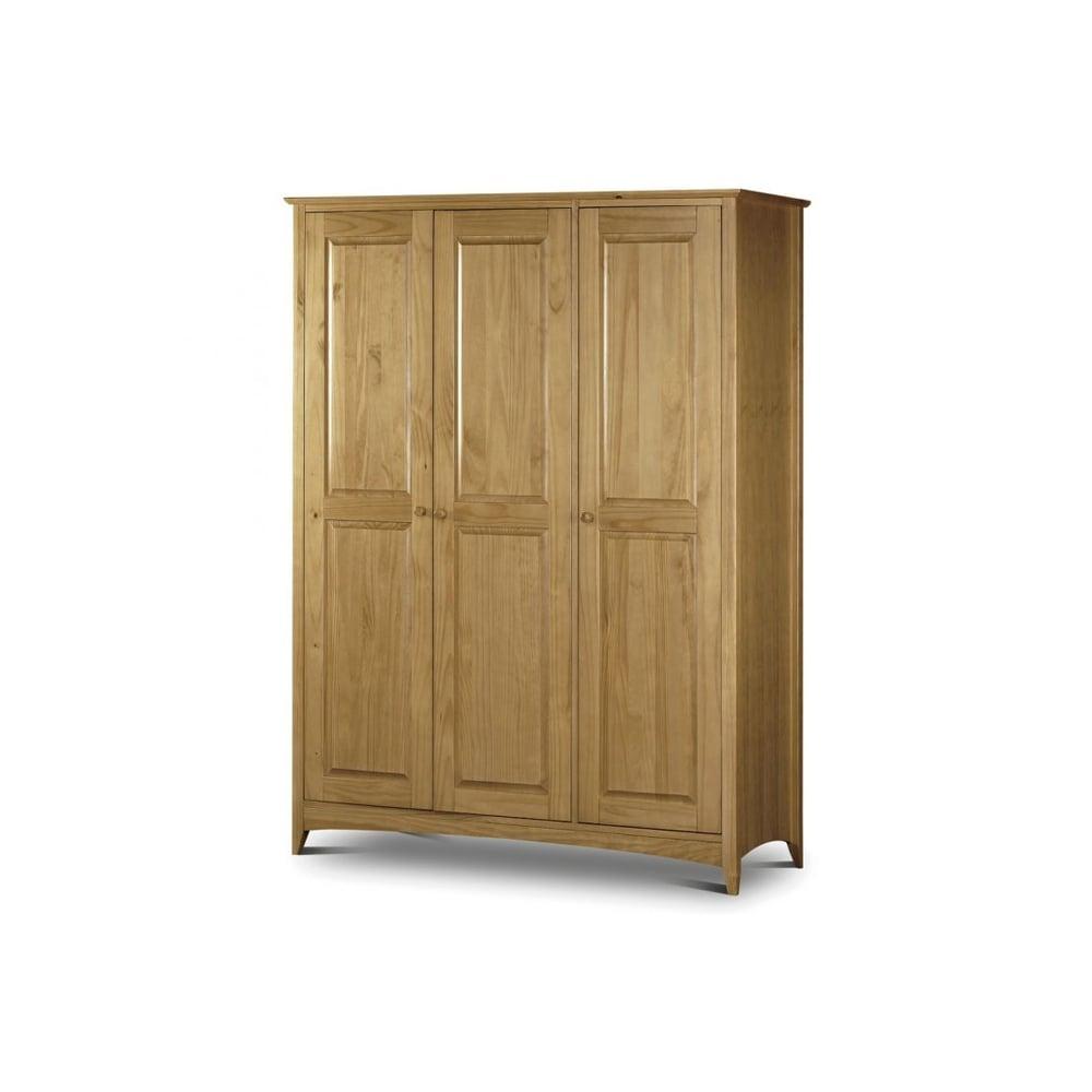 Kendal 3 Door Solid Pine Wardrobe