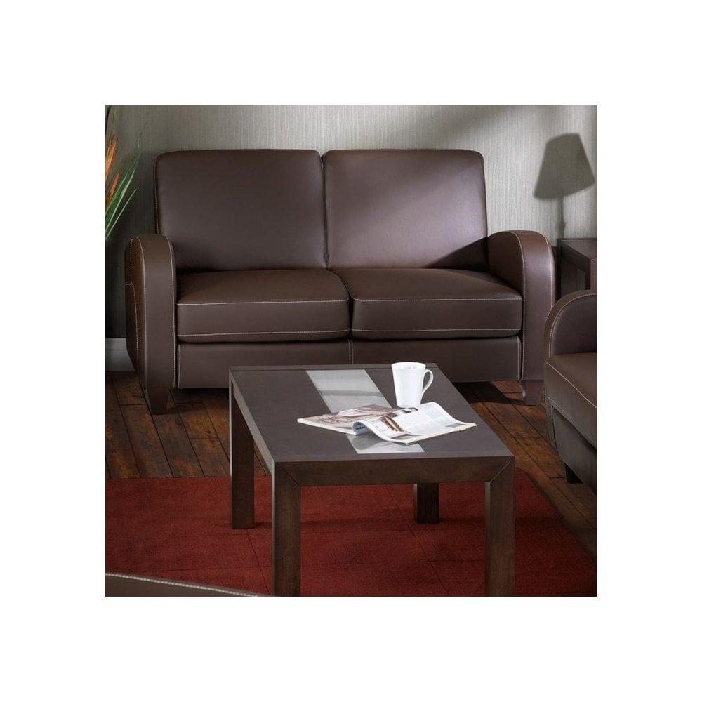 Vivo Chestnut Faux Leather Sofa Bed Viv004