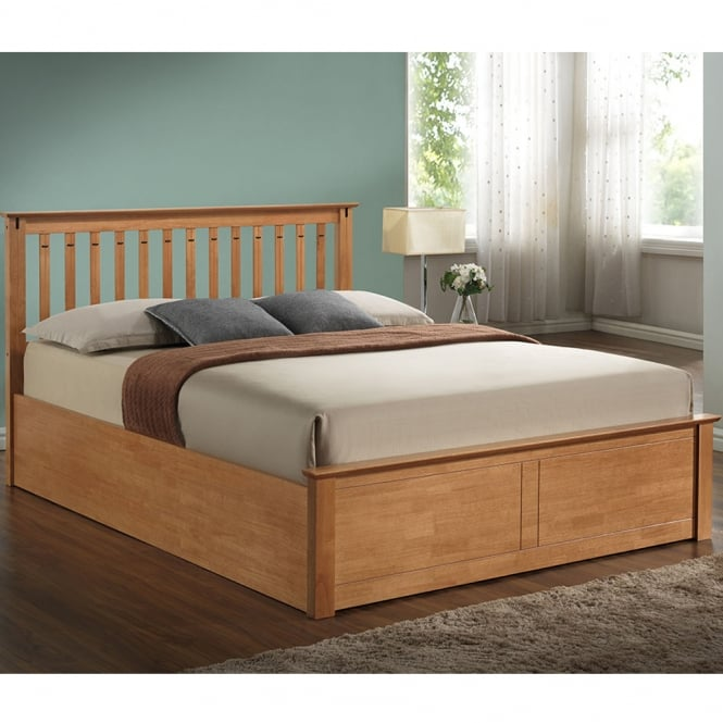 Harmony Kensington 4ft6 Double Oak Wooden Bed
