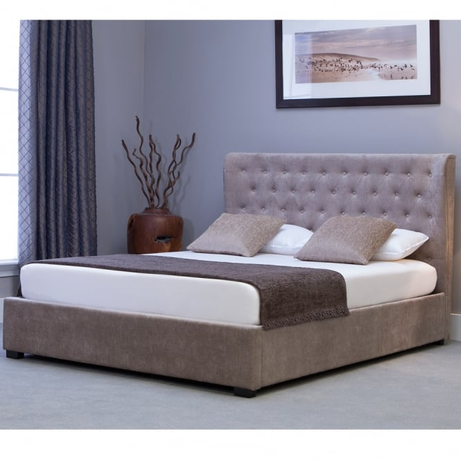 Emporia KNSN46 Kensington 4ft6 Double Stone Ottoman Storage Bed