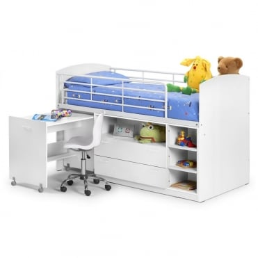Leo All White 3ft Wooden Sleeper