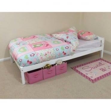 Levi Pine White Single Bed