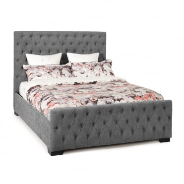 LILL600STOTTO Lillian 6ft Super King Steel Fabric Ottoman Storage Bed