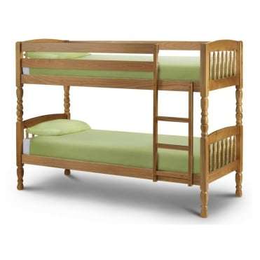 Lincoln Small Single Solid Pine Bunk Bed