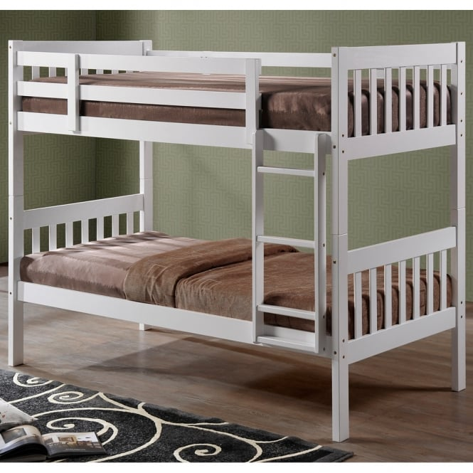 Harmony Lydia 3ft Single White Wooden Bunk Bed