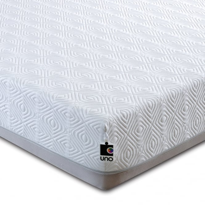 Breasley Uno Memory Pocket 1000 3ft Single Mattress with Adaptive plus Fresche Technology and Premium Knitted Quilt