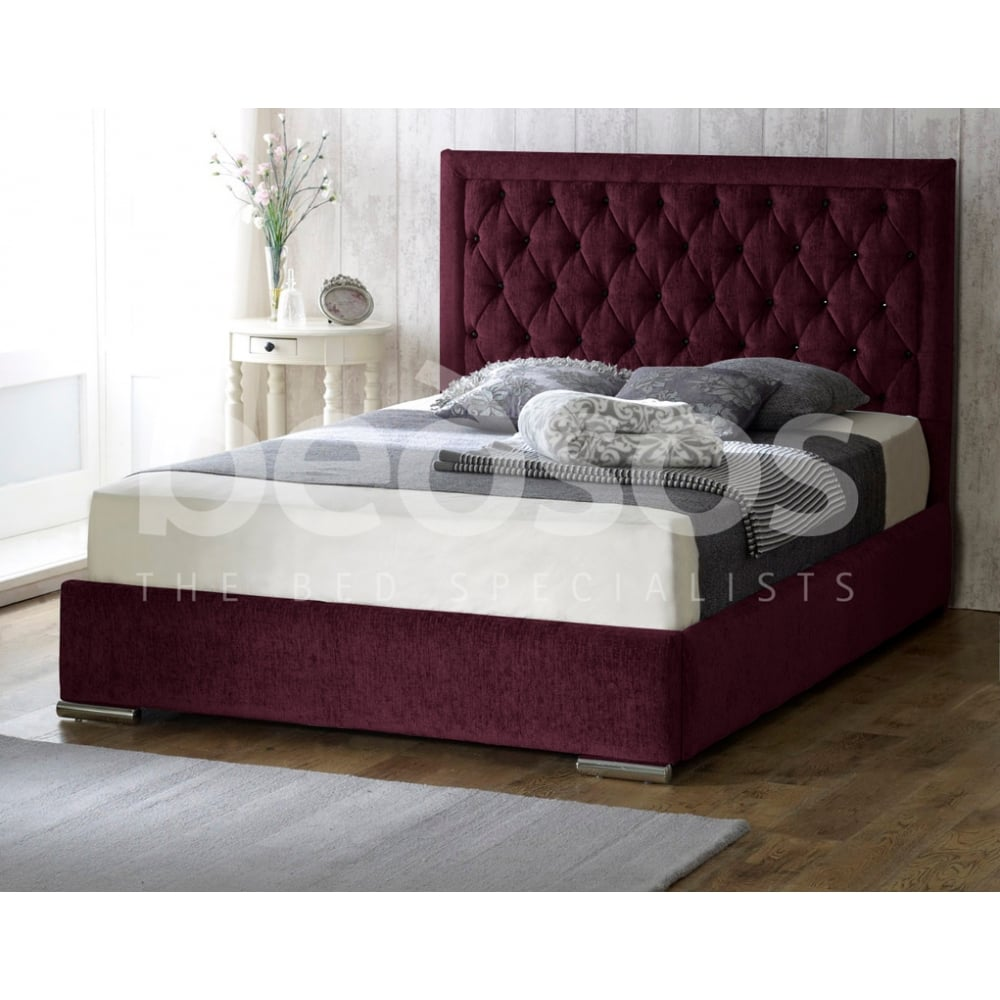 Monza Italia Messina 4ft6 Burgundy Messina 4ft6 Double Burgundy  # Meuble Tv Monza