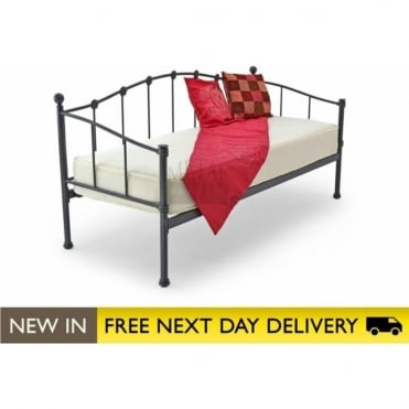 2.6ft Day Bed Black Metal - Paris