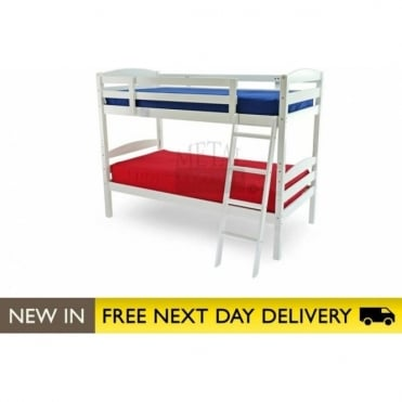 3ft Bunk Bed White Wooden - Moderna bunk