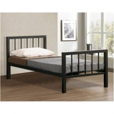 Metro 3ft Single Black Metal Bed