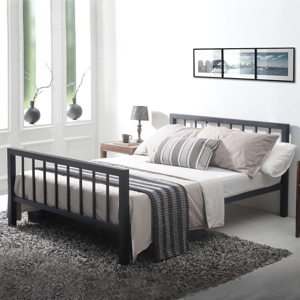 Sale Metro 5ft King Size Black Metal Bed Uk Free Delivery Metro