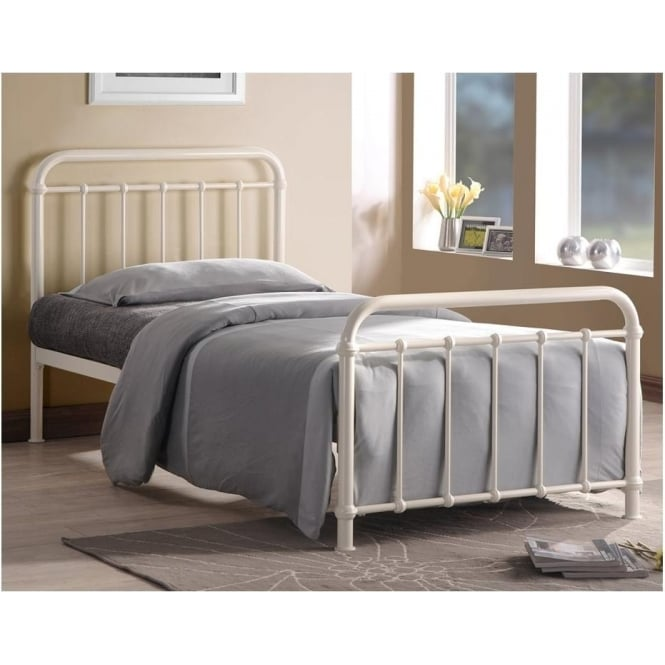 Time Living MIA3 Miami 3ft Single Ivory Metal Bed