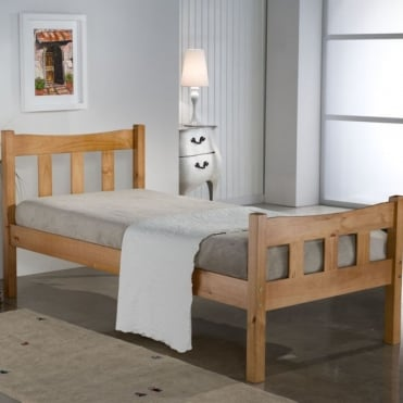 Miami Pine 3ft Single Pine Bed