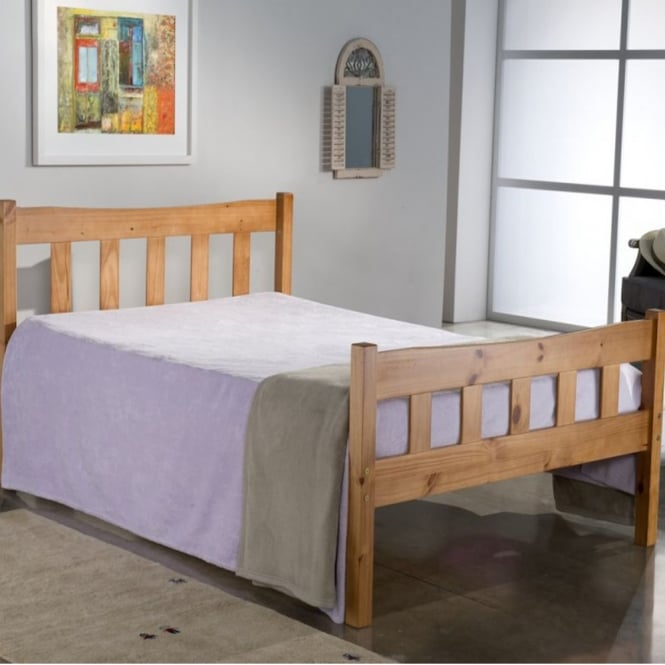 Birlea Beds Miami Pine 4ft Small Double Pine Bed
