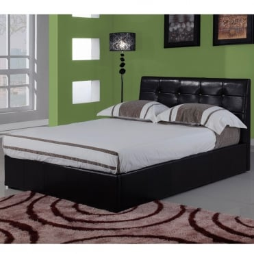 Modena 4ft Small Double Brown Faux Leather Bed