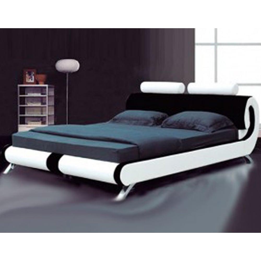Monza Italia 103 5ft Blk Wht Ferrara 5ft King Size Black And White