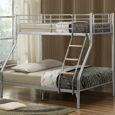 Nexus Silver Metal Bunk Bed