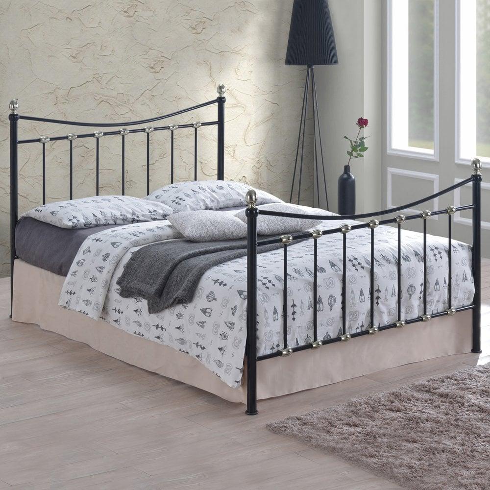 Black Metal Bed Png