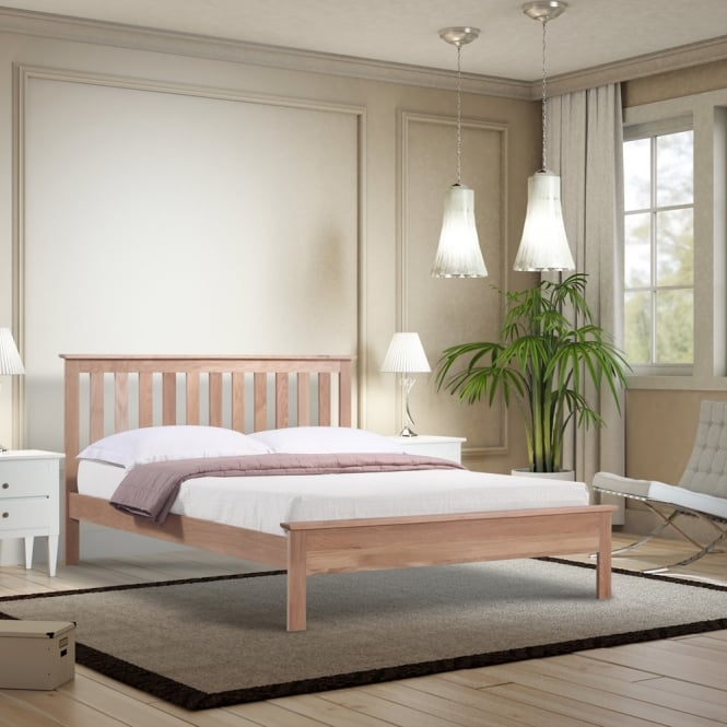 Emporia OLOA40 Oakland 4ft Small Double Oak Wooden Bed