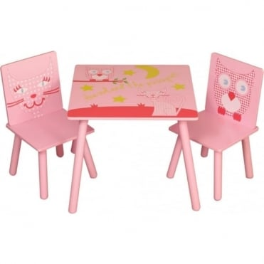 OPTC Owl and Pussycat Table and 2 Chairs