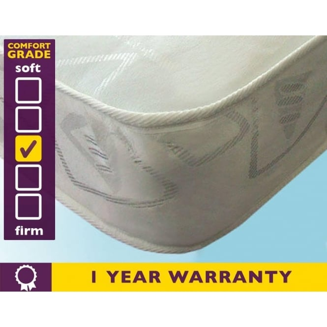 Cheapest Oxford 3ft Single Sprung Mattress Discounted 3ft Oxford