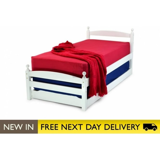 Metal Beds Ltd Palermo White 3ft Single Guest Bed