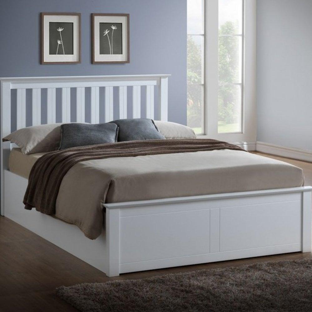 half off 4bd1b 332f0 Birlea Beds PHOTB4WHT Phoenix 4ft Small Double White Ottoman Bed