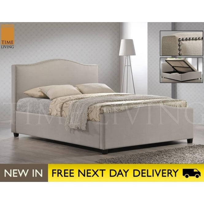 Time Living Exclusive BRU5SAND Brunswick Sand 5ft King Size Storage Bed