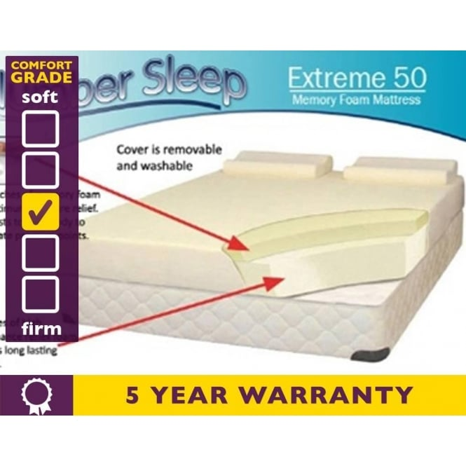 Slumber Sleep 6ft Super King Size Extreme 50 Memory Foam Mattress