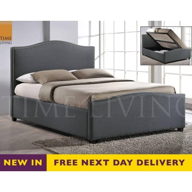 Time Living Exclusive BRU46GREY Brunswick Grey 4ft6 Double Storage Bed