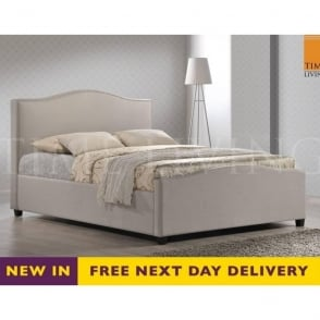 Tuxford 5ft King Size Sand Fabric Bed