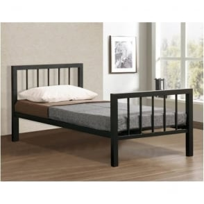 Time Living Metro 3ft Single Black Metal Bed