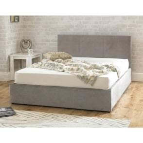 Emporia Stirling Ottoman 4ft6 Double Stone Fabric Bed