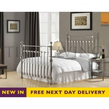 Edward 5ft King Size Chrome Plated Metal Bed