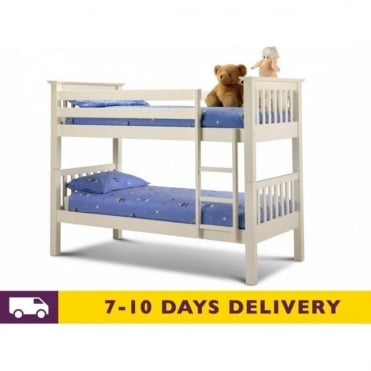 Barcelona 3ft Solid White Pine Bunk Bed