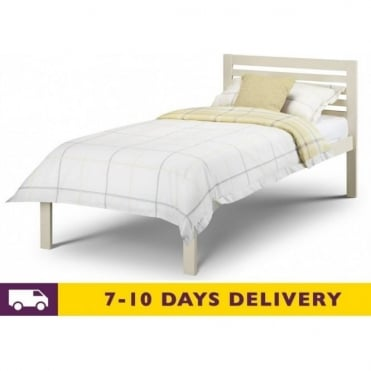 3ft Slocum Stone White Wooden Bed