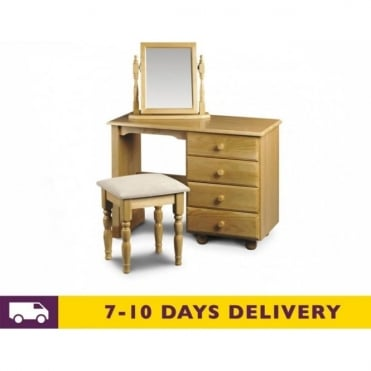 Pickwick Single Pedestal Dressing Table