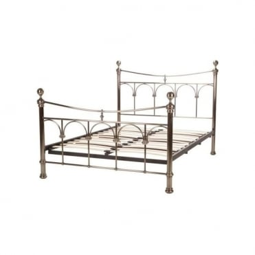 Gamma King Size 5ft Metal Nickel Bed